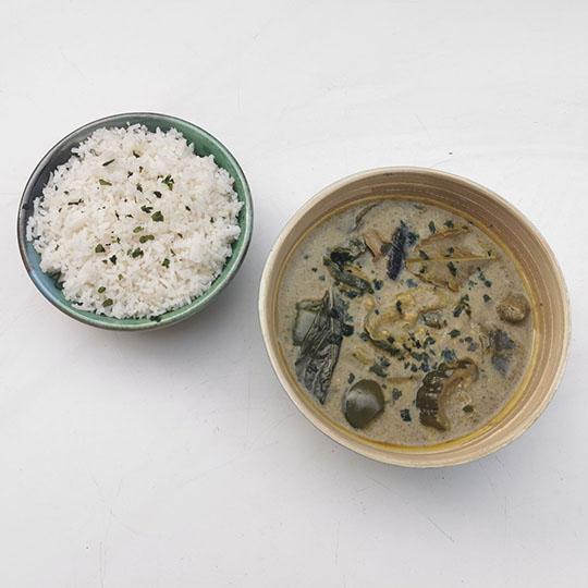 curry vert thaï végétarien