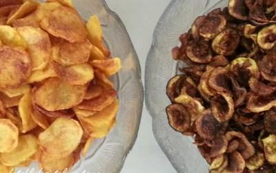 CHIPS DE POMMES DE TERRE ET COURGETTES sans gluten