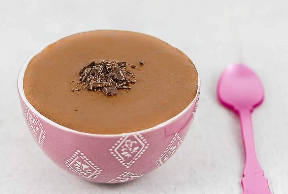 CRÈME AU CHOCOLAT sans gluten, sans lait, avec ou sans sucre