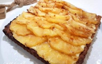 TARTE ANANAS ET NOIX DE COCO sans gluten, sans lait, sans sucre, sans levure, avec ou sans oeuf