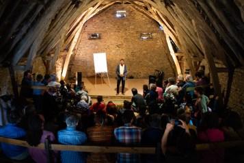 Michel Laloux en conférence Photo Thibaud Morin