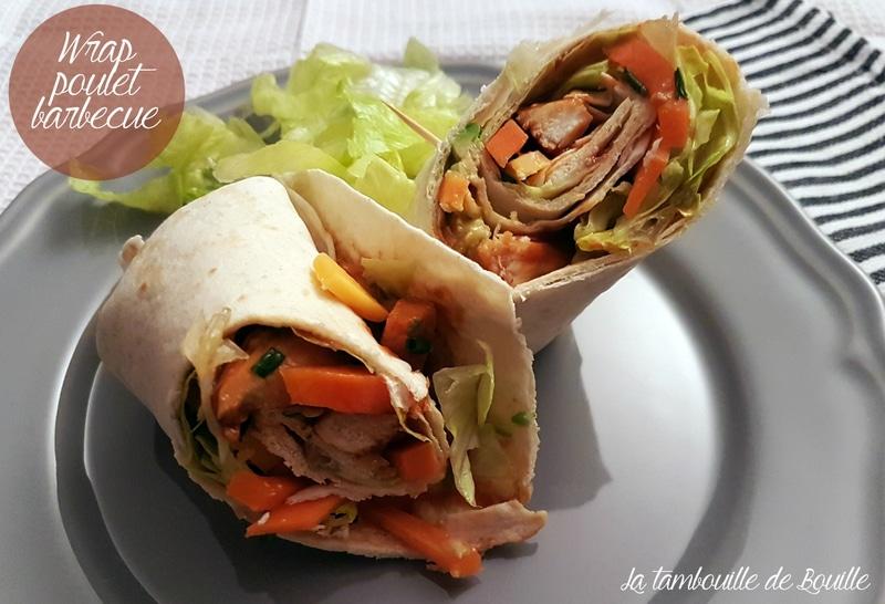 repas-rapide-wrap-poulet-barbecue