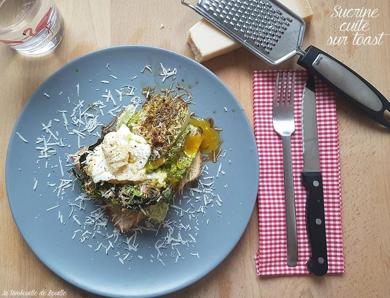 recette-salade-cuite-sucrine-toast-balsamique-oeuf-parmesan