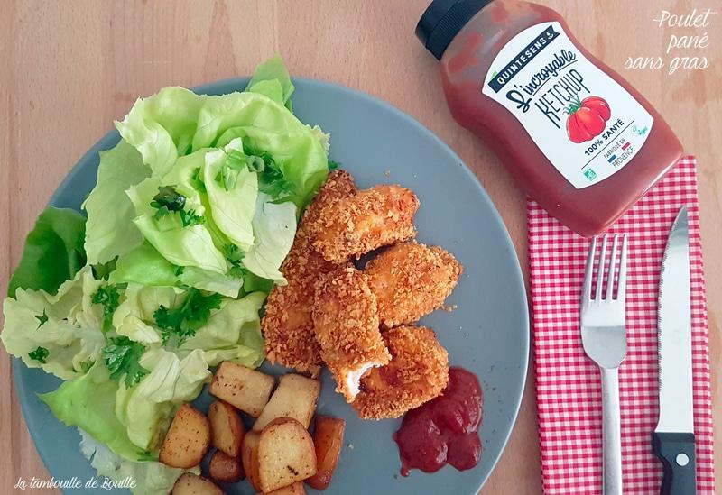 Poulet pané sans huile au four ou nuggets maison facile