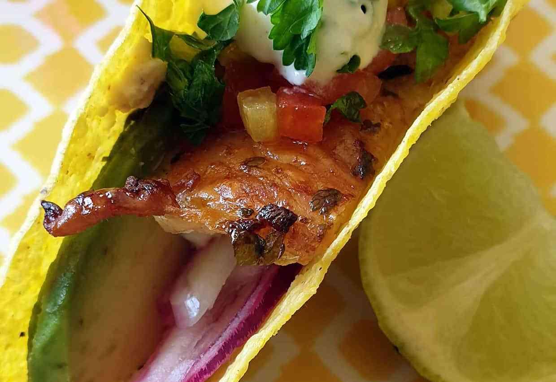 Tacos poulet croustillant citron