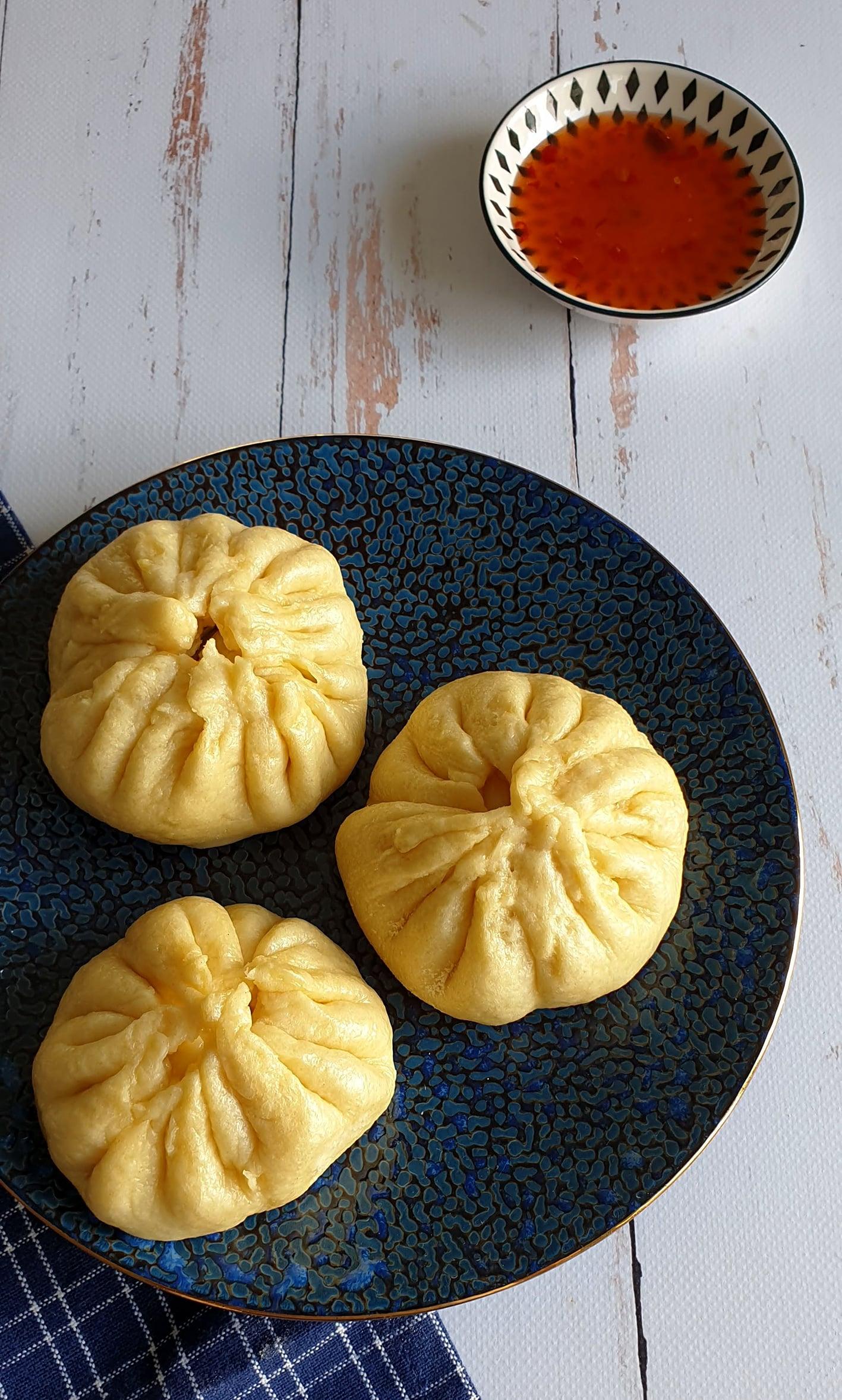 Bao, brioche fourrée au poulet à la vapeur