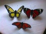 Farfalle in vetro dipinte tecnica Tiffany