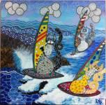 La gioia del mare - Acrilico su tela 60x60