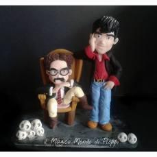 Il Magico mondo di Ploppi - Statuine in Fimo Dylan Dog e Groucho