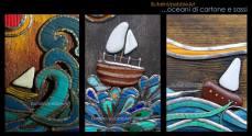 Pebble Art - Oceani di cartone e sassi