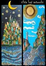 Silvia Logi Artworks - Contemplare mare notte giorno