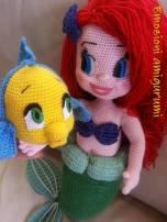 Emozioni-Anigurumi - Bambole Ariel e Flounder
