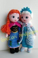 Emozioni Anigurumi - Bambole Elsa ed Anna Disney Frozen