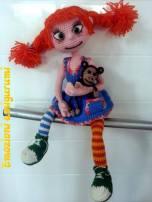 Emozioni Anigurumi - Bambola Pippi Calzelunghe
