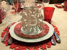 A Creative Family - Segnaposto Fiocco di Neve