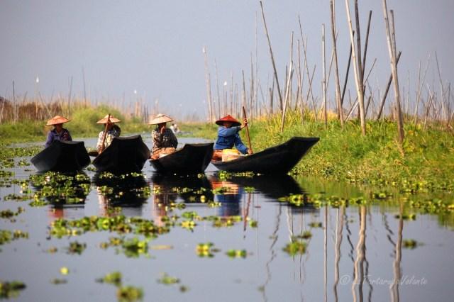 Viaggio in Myanmar Lago Inle donne a passeggio