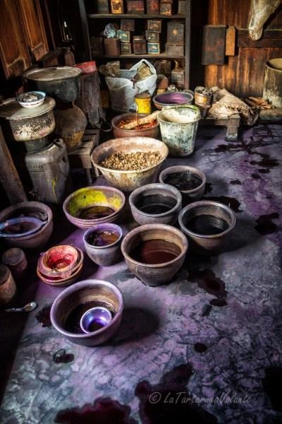 viaggio in Myanmar lavorazione del cotone