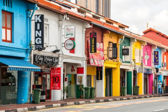 Singapore, strada colorata
