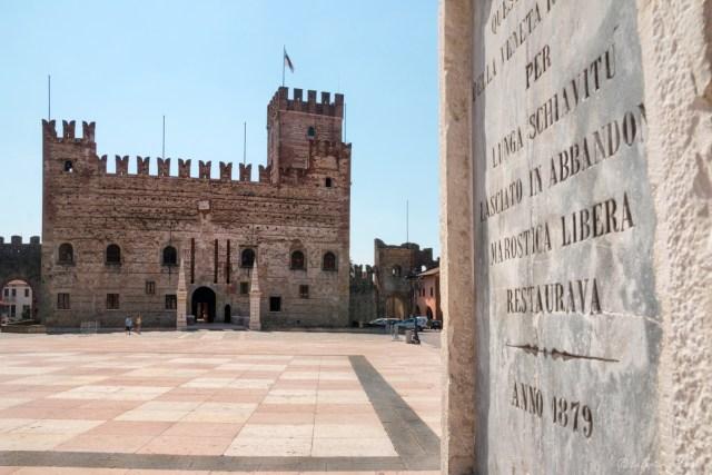 marostica, piazza scacchi e castello