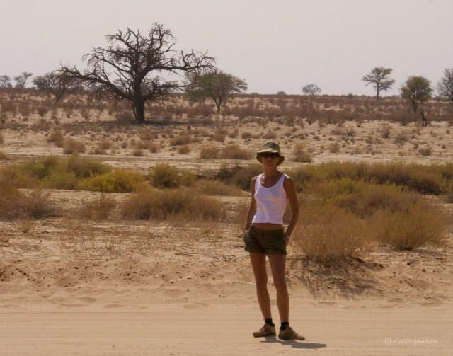 Sudafrica, io nel Kgalagadi