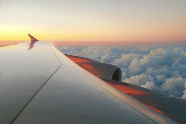 posto aereo, vista dall'aereo