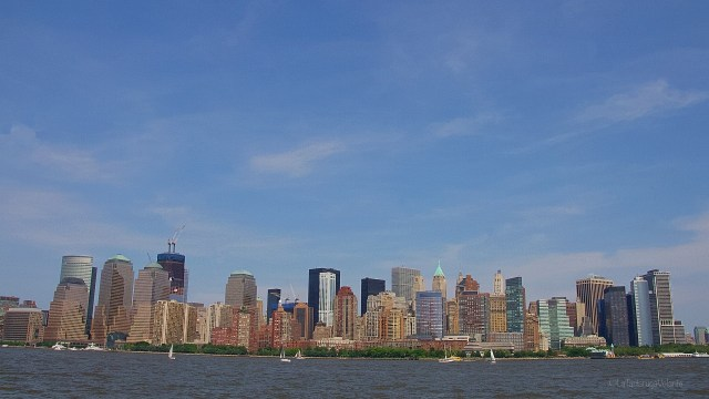 New York, skyline da Stae Island