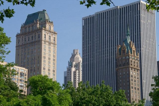New york palazzi antichi e moderni dal central park