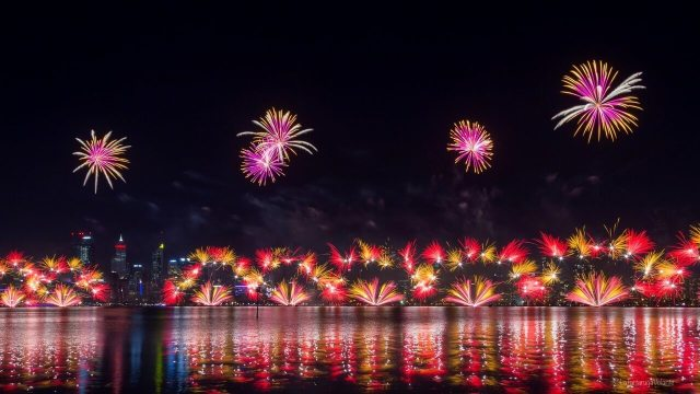 Fuochi d'artificio perth 26 2019