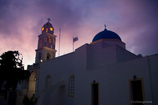Santorini, di notte