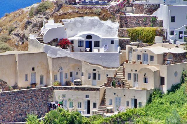 Santorini e le case su case