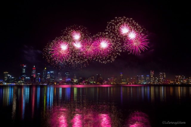 fotografare i fuochi d'artificio, fuochi a perth 2019