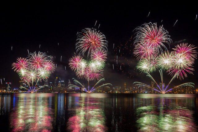 perth fuochi d'artificio