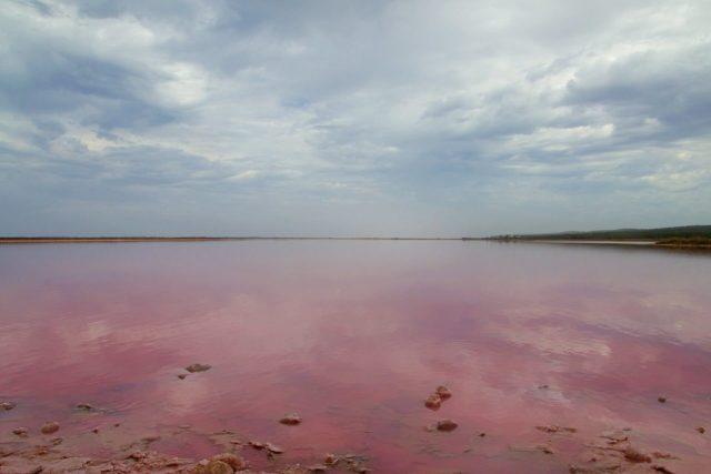 Hutt lagoon al mattino