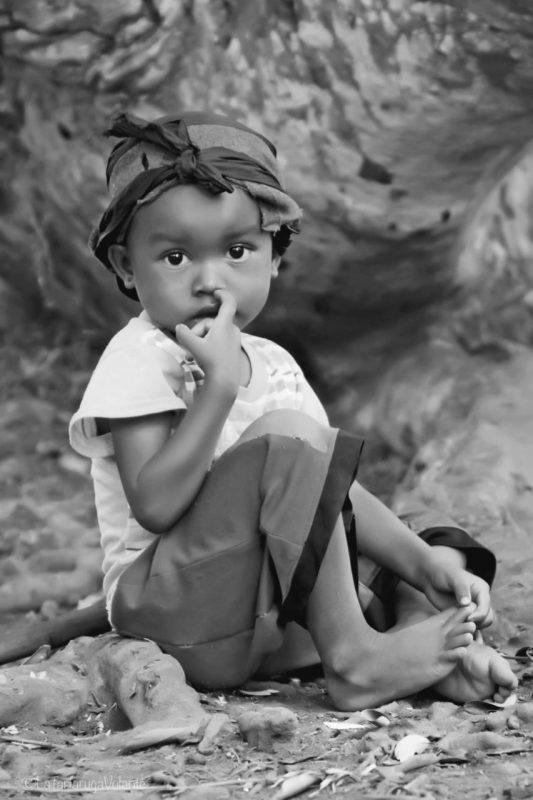 Bambina del Madagascar