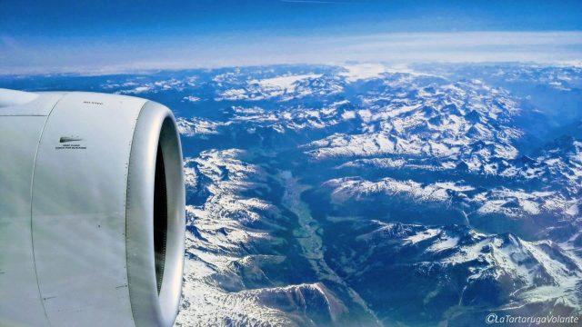 le montagne dall'aereo