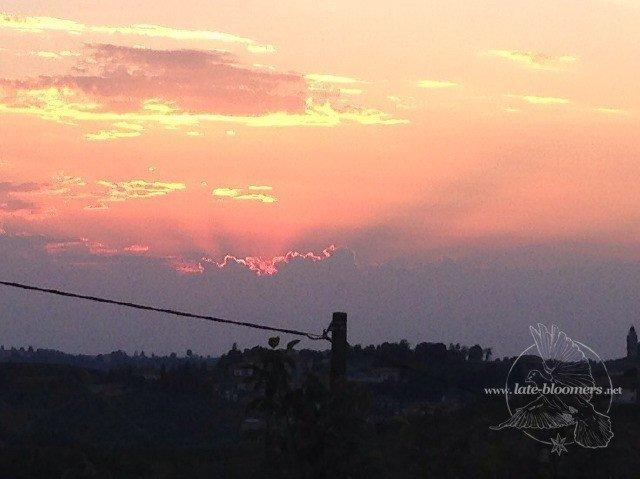 Sonnenuntergang Piemont Italien