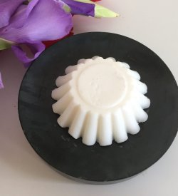 Goat milk soap with a lovely fragrance of sandalwood, mandarin, bois de rose, jasmine, amber and cedar