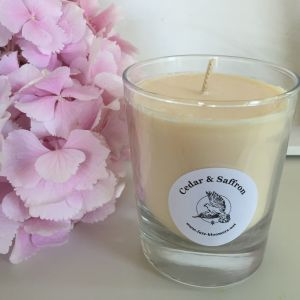 warm blend of cedar, musk, sandalwood, patchouli, saffron and clove