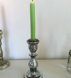 Silver Glass Candlestick