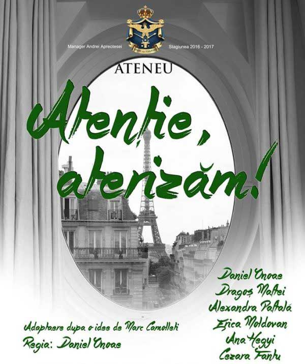 Atentie Aterizam - Ateneul National din Iasi afis