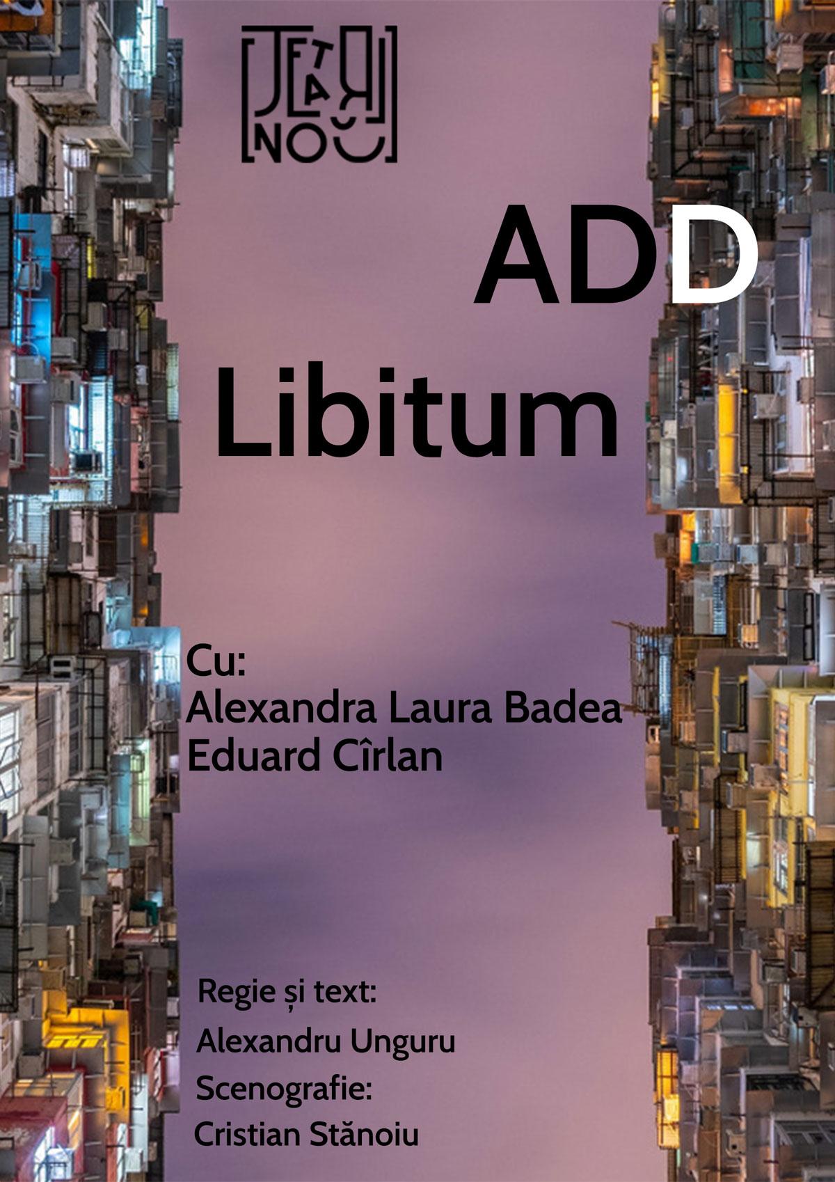 Add libitum - Teatrul Nou POSTER