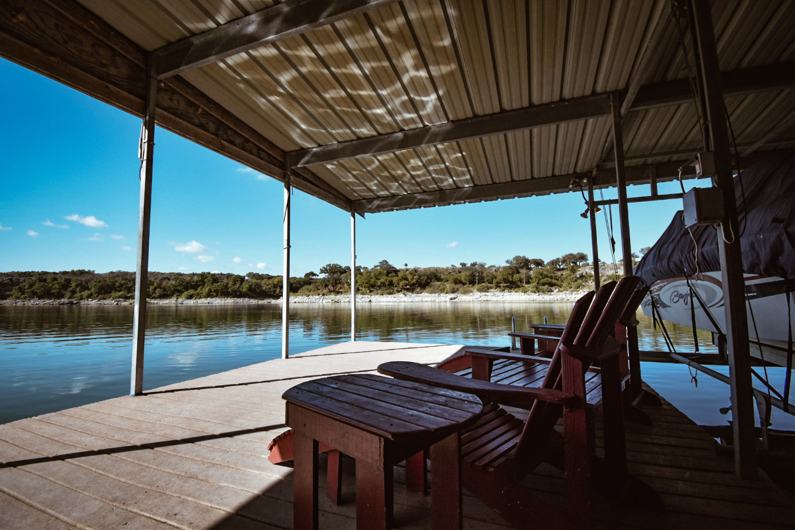 Living Waters on Lake Travis floating dock - Late By Lattes