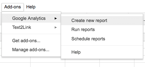 Comment créer un rapport avec l'add-on Google Analytics sur Spreadsheet