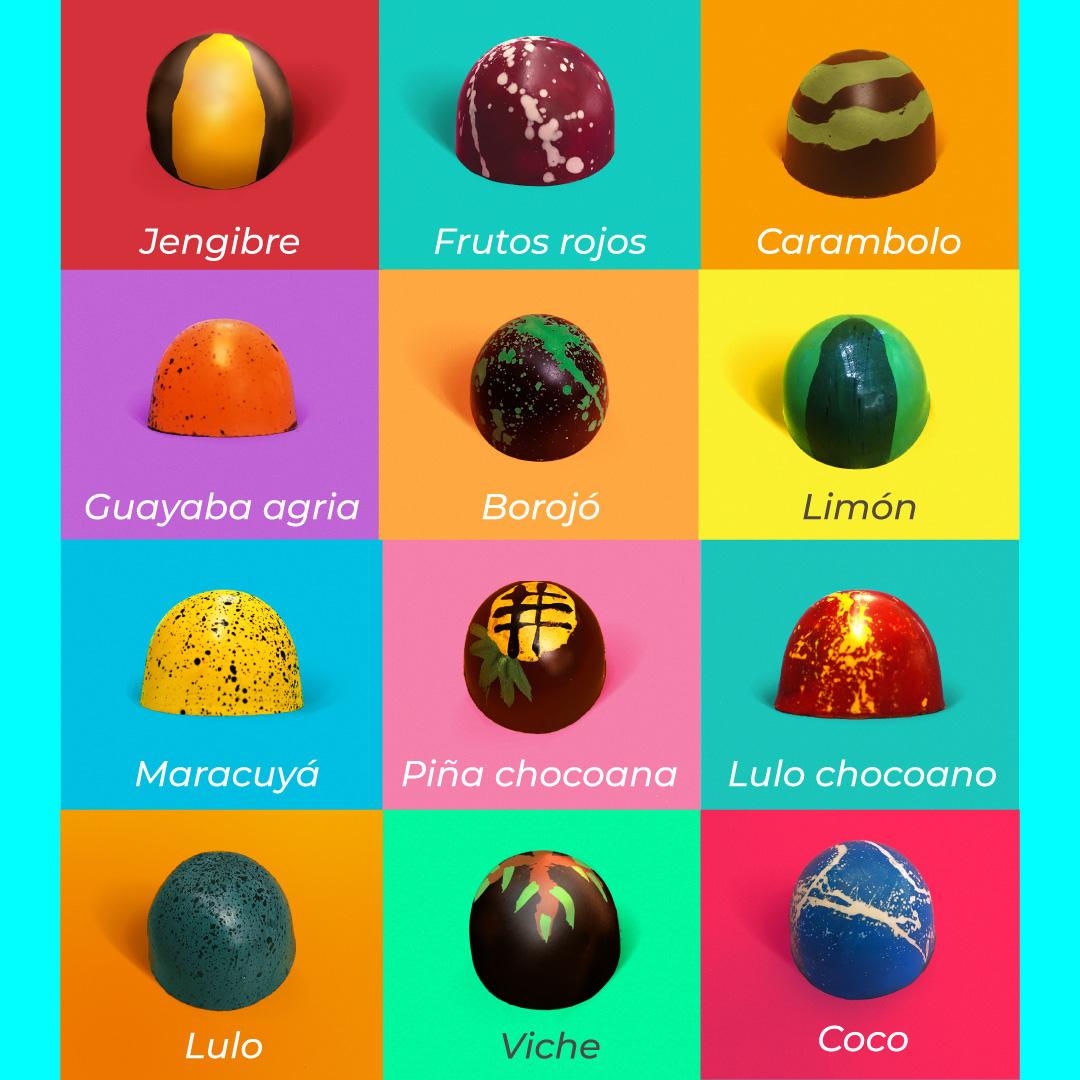 sabores de bombones