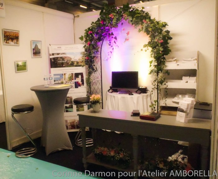 D coration de stand au salon du mariage de la porte de for Salon porte de versailles hall 6