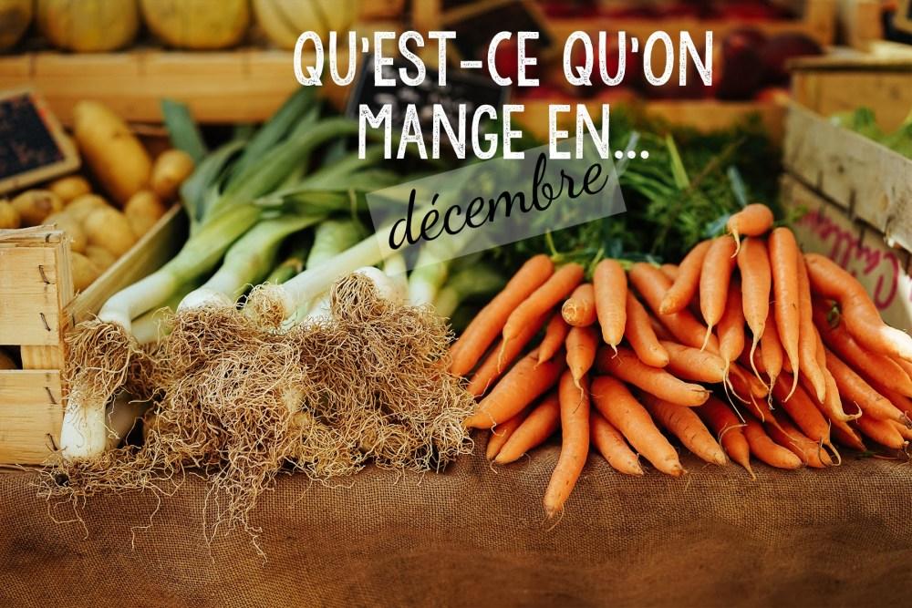 Qu'est-ce qu'on mange en décembre ? - L'atelier de Lexie