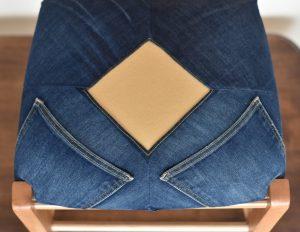 Chaise en jean