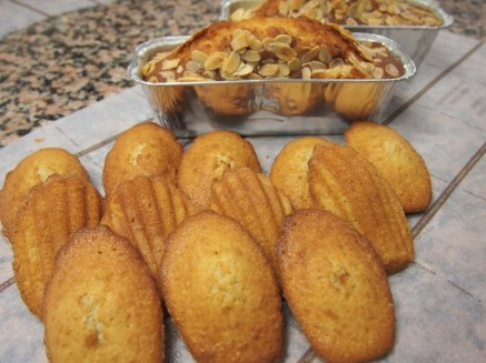 Madeleines et Cake aux Fruits