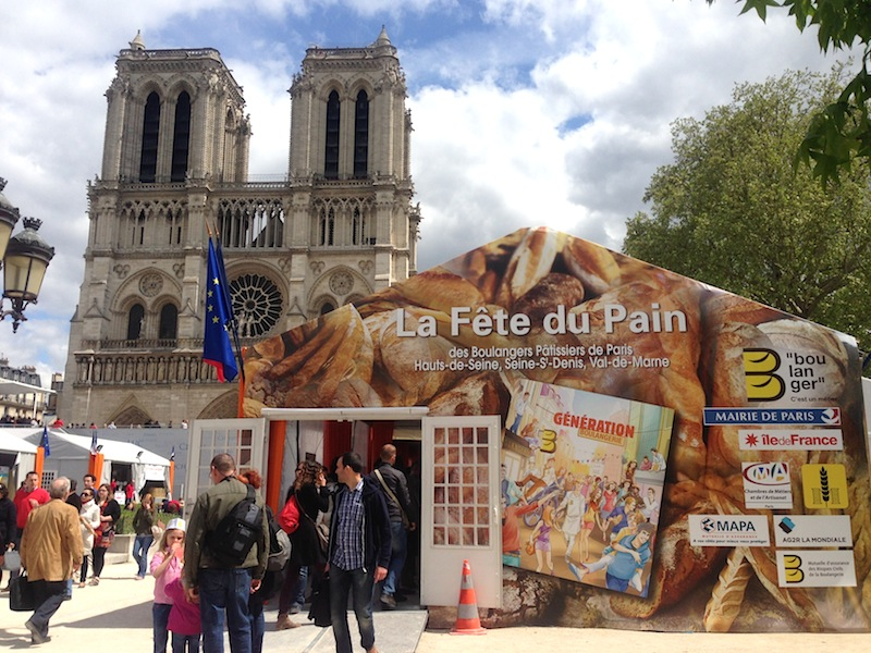The annual Fête du Pain in front of Notre Dame, Paris.