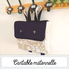 Cartable maternelle artisanal